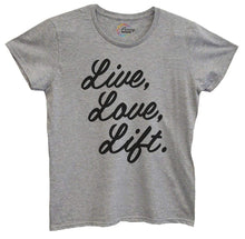 Womens Live Love Liftv3 Tshirt Small Womens Tank Tops Grey Tshirt