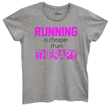 Womens Running Is Cheaper Then Therapy Tshirt Small Womens Tank Tops Grey Tshirt