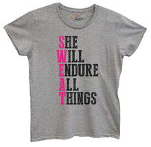 Womens She Will Endure All Things Tshirt Small Womens Tank Tops Grey Tshirt