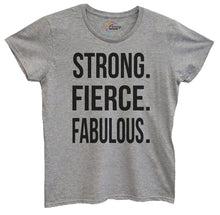 Womens Strong, Fierce, Fabulous. Tshirt Small Womens Tank Tops Grey Tshirt
