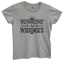 Womens Sunshine And Whiskey Tshirt Small Womens Tank Tops Grey Tshirt