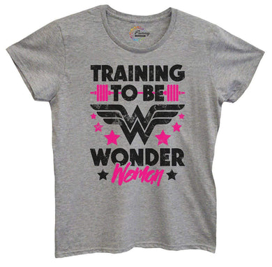 Womens Training To Be Wonder Woman Tshirt Small Womens Tank Tops Grey Tshirt