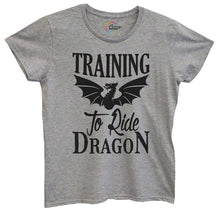 Womens Training To Ride Dragon Tshirt Small Womens Tank Tops Grey Tshirt