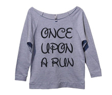 Unce Upon A Run Womens 3/4 Long Sleeve Vintage Raw Edge Shirt Small Womens Tank Tops Grey