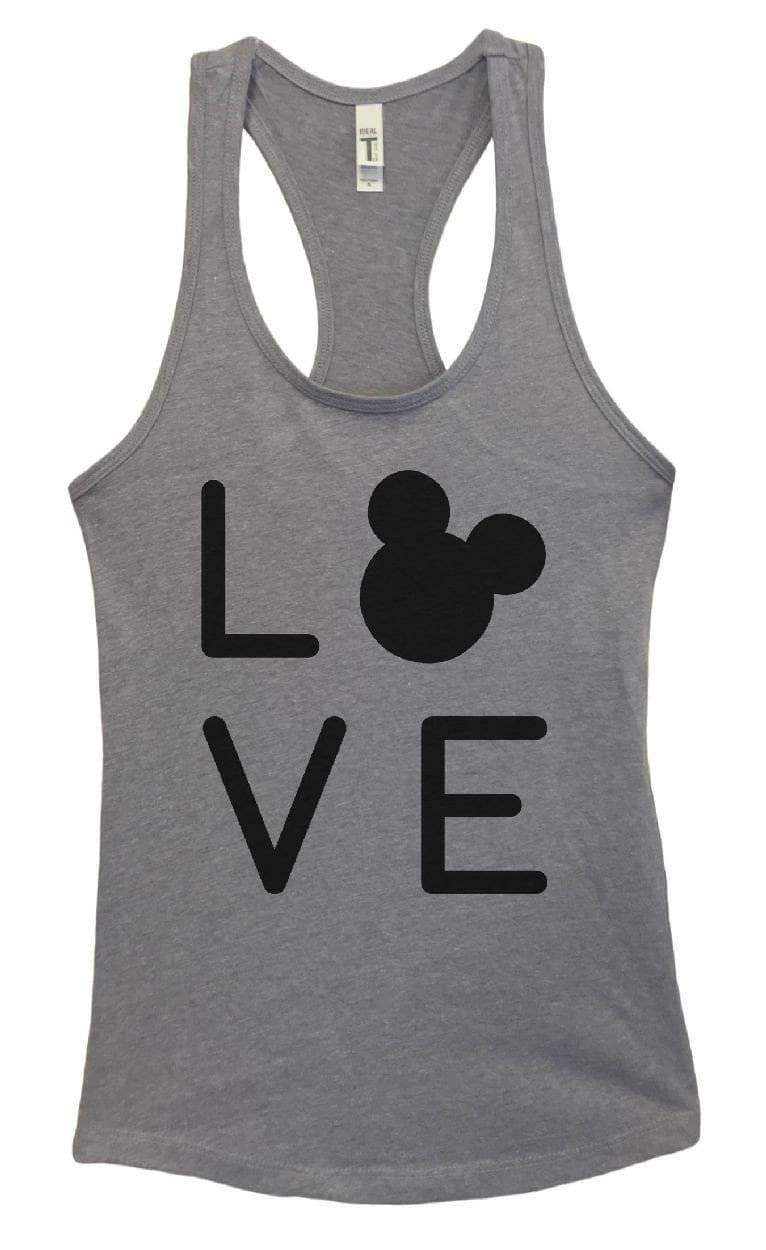 Womens Love Grapahic Design Fitted Tank Top Small Womens Tank Tops Heather Grey