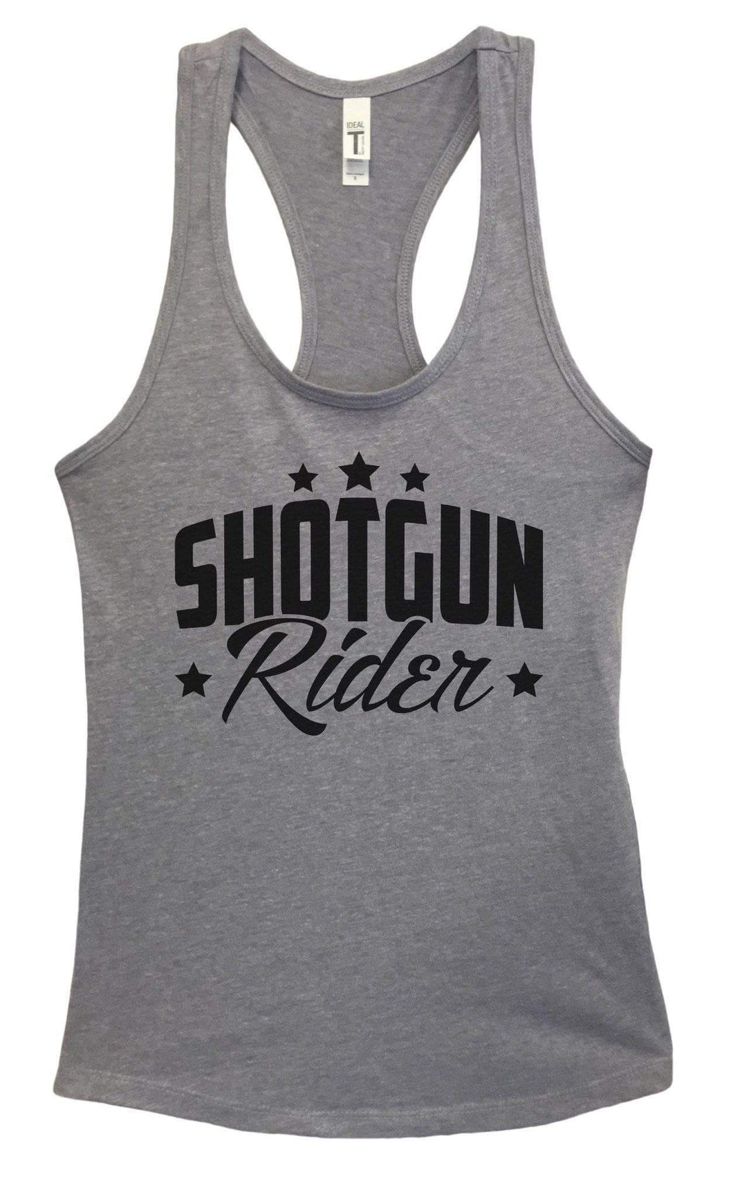 Womens Shotgun Rider Grapahic Design Fitted Tank Top Small Womens Tank Tops Heather Grey
