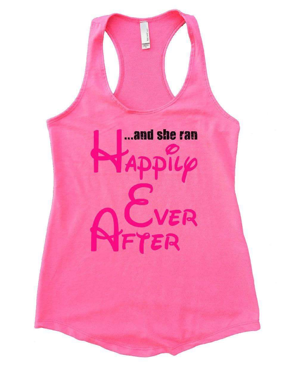 ... And She Ran Happily Ever After Womens Workout Tank Top Small Womens Tank Tops Heather Pink