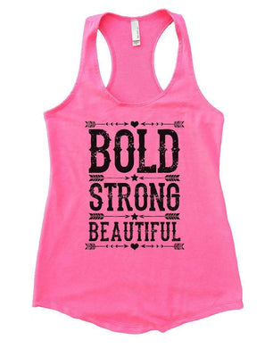 BOLD STRONG BEAUTIFUL Womens Workout Tank Top Small Womens Tank Tops Heather Pink