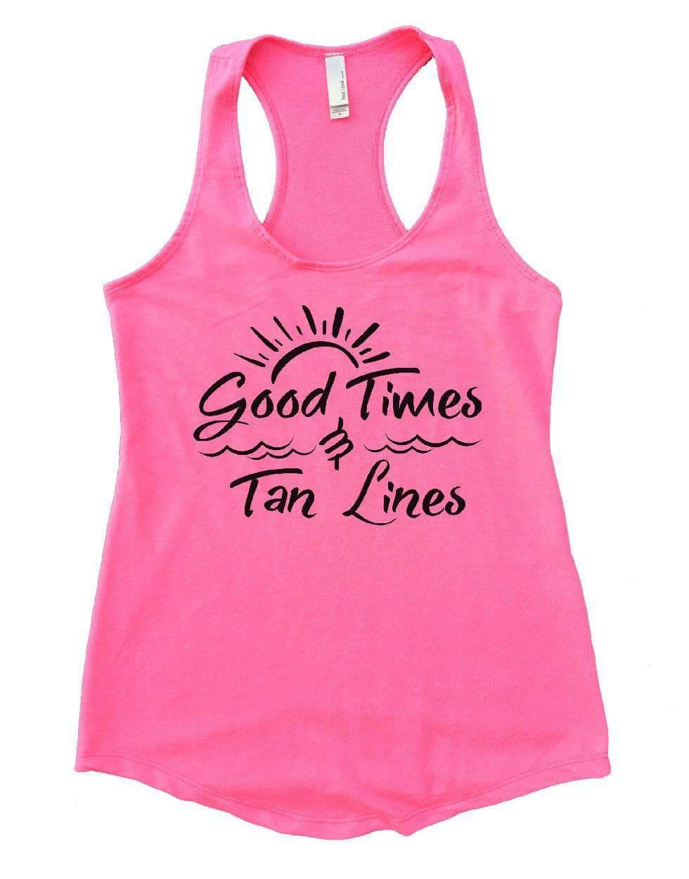 Good Times Tan Lines Womens Workout Tank Top Small Womens Tank Tops Heather Pink