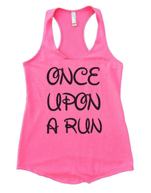 ONCE UPON A RUN Womens Workout Tank Top Small Womens Tank Tops Heather Pink