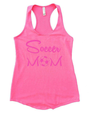 Soccer MOM Womens Workout Tank Top Small Womens Tank Tops Heather Pink