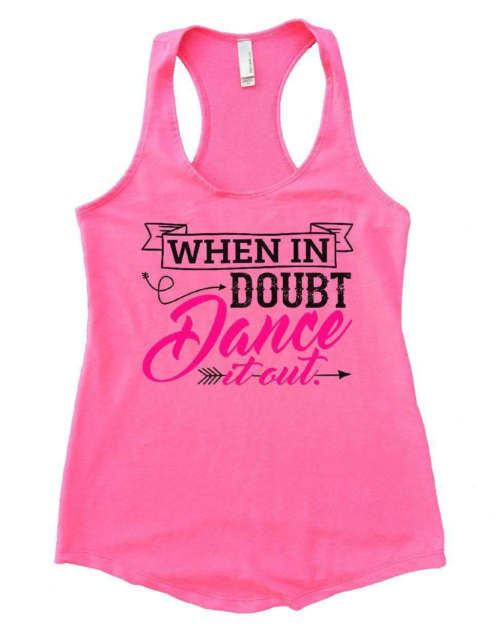WHEN IN DOUBT Dance It Out. Womens Workout Tank Top Small Womens Tank Tops Heather Pink