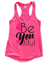 Be You Tiful Womens Workout Tank Top Small Womens Tank Tops Hot Pink