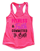 FITNESS & Faith COMMITTED To Both Womens Workout Tank Top Small Womens Tank Tops Hot Pink