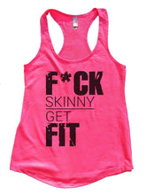 FUCK SKINNY GET FIT Womens Workout Tank Top Small Womens Tank Tops Hot Pink