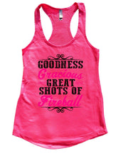Goodness Gracious Great Shots Of Fireball Womens Workout Tank Top Small Womens Tank Tops Hot Pink