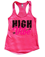 HIGH Vibe Womens Workout Tank Top Small Womens Tank Tops Hot Pink