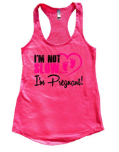 I'm Not Slow I'm Pregnant! Womens Workout Tank Top Small Womens Tank Tops Hot Pink