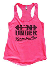 I'M UNDER Reconstruction Womens Workout Tank Top Small Womens Tank Tops Hot Pink