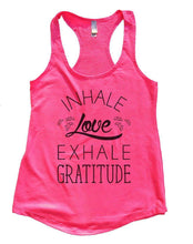 INHALE Love EXHALE GRATITUDE Womens Workout Tank Top Small Womens Tank Tops Hot Pink
