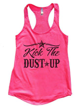Kick The DUST UP Womens Workout Tank Top Small Womens Tank Tops Hot Pink