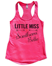 LITTLE MISS Southern Belle Womens Workout Tank Top Small Womens Tank Tops Hot Pink