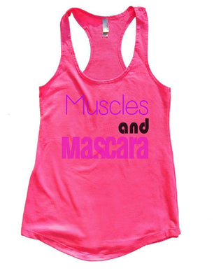 Muscles And Mascara Womens Workout Tank Top Small Womens Tank Tops Hot Pink