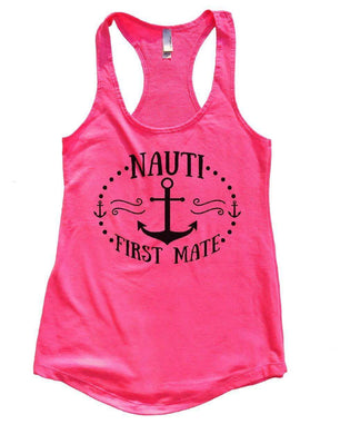 NAUTI FIRST MATE Womens Workout Tank Top Small Womens Tank Tops Hot Pink