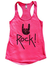 Rock On Womens Workout Tank Top Small Womens Tank Tops Hot Pink