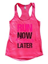 RUN NOW Wine LATER Womens Workout Tank Top Small Womens Tank Tops Hot Pink