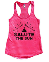 SALUTE THE SUN Womens Workout Tank Top Small Womens Tank Tops Hot Pink