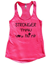 STRONGER THAN You Think Womens Workout Tank Top Small Womens Tank Tops Hot Pink
