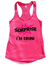 SURPRISE I'M DRUNK Womens Workout Tank Top Small Womens Tank Tops Hot Pink