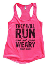 THEY WILL RUN And Not Grow WEARY Womens Workout Tank Top Small Womens Tank Tops Hot Pink