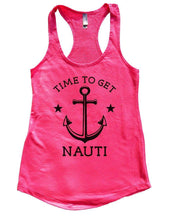 TIME TO GET NAUTI Womens Workout Tank Top Small Womens Tank Tops Hot Pink