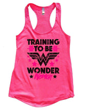 TRAINING TO BE WONDER Woman Womens Workout Tank Top Small Womens Tank Tops Hot Pink
