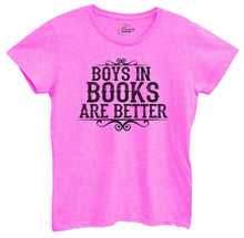 Womens Boys In Books Are Better Tshirt Small Womens Tank Tops Hot Pink Tshirt