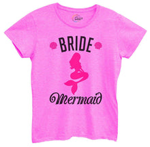 Womens Bride's Mermaid Tshirt Small Womens Tank Tops Hot Pink Tshirt