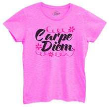 Womens Carpe Diem Tshirt Small Womens Tank Tops Hot Pink Tshirt