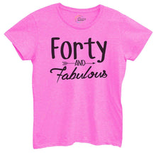 Womens Forty And Fabulous Tshirt Small Womens Tank Tops Hot Pink Tshirt
