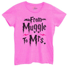 Womens From Muggle To Mrs Tshirt Small Womens Tank Tops Hot Pink Tshirt