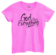 Womens God Over Everything Tshirt Small Womens Tank Tops Hot Pink Tshirt