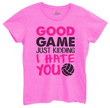 Womens Good Game Just Kidding I Hate You Tshirt Small Womens Tank Tops Hot Pink Tshirt