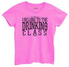 Womens I Belong To The Drinking Class Tshirt Small Womens Tank Tops Hot Pink Tshirt