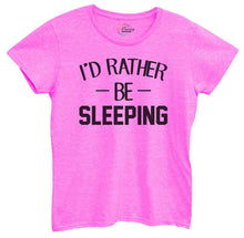 Womens I'd Rather Be Sleeping Tshirt Small Womens Tank Tops Hot Pink Tshirt