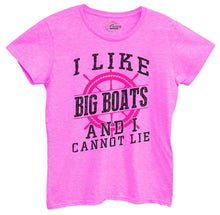 Womens I Like Big Boats And I Cannot Lie Tshirt Small Womens Tank Tops Hot Pink Tshirt