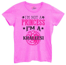 Womens I'm Not A Princess I'm A Khaleesi Tshirt Small Womens Tank Tops Hot Pink Tshirt