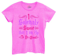 Womens I Solemnly Swear That I Am Up To No Good Tshirt Small Womens Tank Tops Hot Pink Tshirt