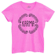 Womens Karma Tshirt Small Womens Tank Tops Hot Pink Tshirt