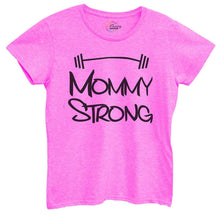 Womens Mommy Strong Tshirt Small Womens Tank Tops Hot Pink Tshirt